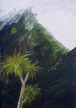 Cabbage tree Tongariro by Christopher Madden